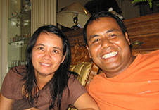 Abba and Dilla the owners of the Mutiara Guest house in Banda Neira